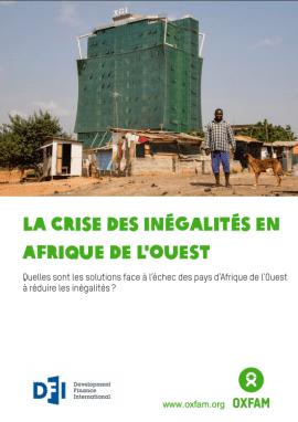 Rapport : La crise des inégalités en l'Afrique de l'Ouest