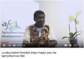 Vidéo/analyse : Regards croisés France/ Mali sur la sécurisation foncière
