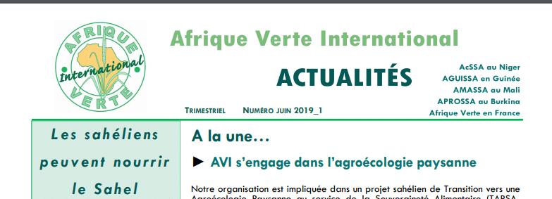 Bulletin trimestriel : AVI fait le point de ses activités sur l'agroécologie paysanne