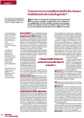 Concurrence ou complémentarité des réseaux institutionnels de conseil agricole ?