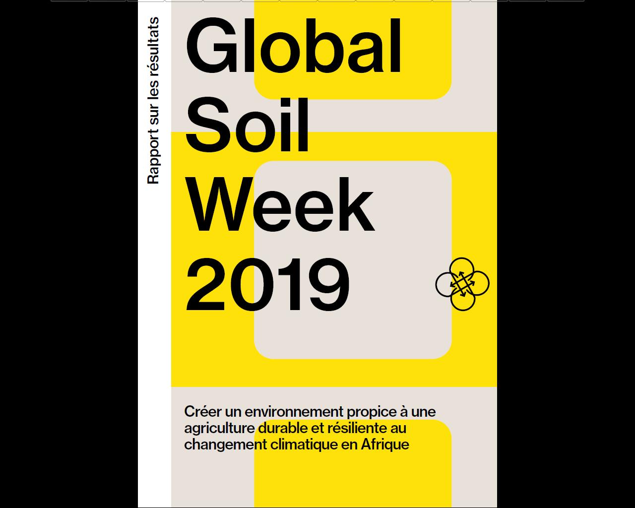 Rapport - Global soil week 2019