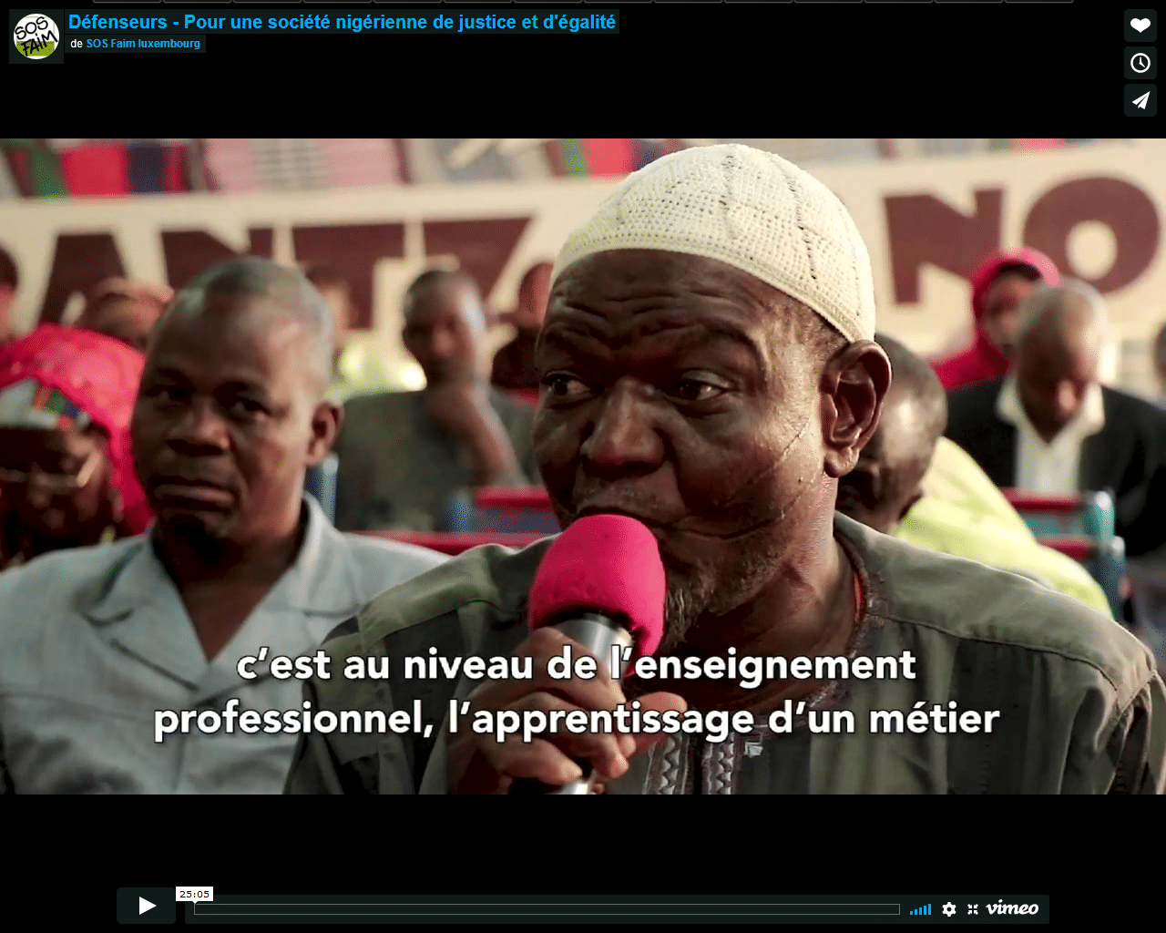 Video - Défenseurs, pour une société nigérienne de justice et d'égalité