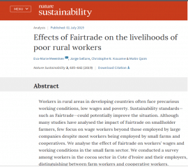 Article - Effets du commerce équitable sur les ouvriers agricoles pauvres