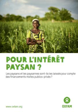 Rapport - Pour l'intérêt paysan ? Les paysans et paysannes sont-ils les laissés pour compte des financements mixtes publics-privés?