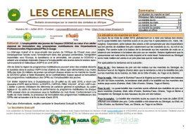 """Bulletin """"Les céréaliers"""" n°36 - juillet 2019"""