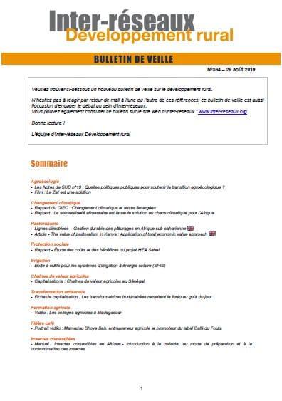 Bulletin de veille n°364