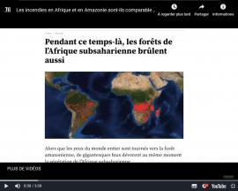 Vidéo - Les incendies en Afrique et en Amazonie sont-ils comparables?