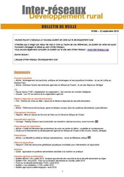 Bulletin de veille n°365
