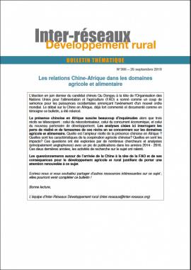 Bulletin de veille n°366 - Spécial relations Chine - Afrique