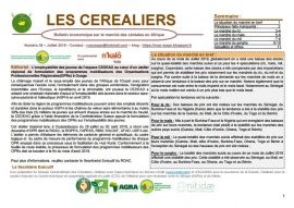 """Bulletin """"Les céréaliers"""" - Août 2019"""
