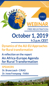 Webinar: Dynamics of the AU-EU Approaches for Rural transformation