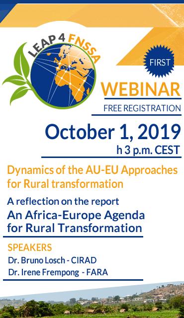 Webinar: Dynamics of the AU-EU Approaches for Rural transformation