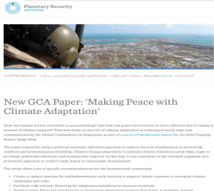 Article - Making peace with climate adaptation