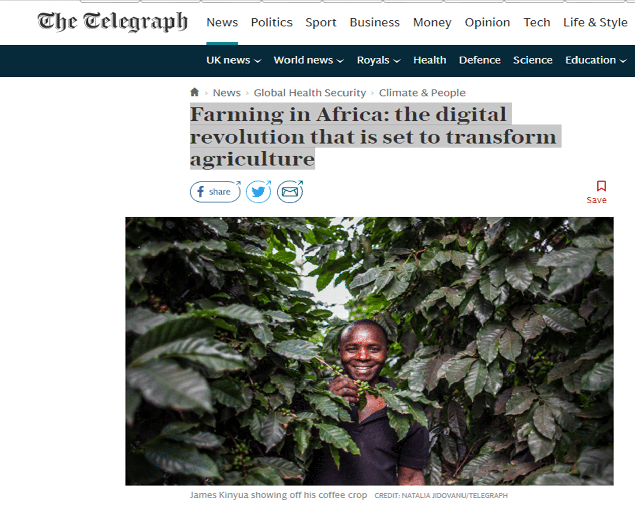Article - Farming in Africa: the digital revolution that is set to transform agriculture