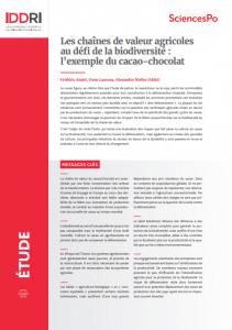 Etude - Les chaînes de valeur agricoles au défi de la biodiversité : l'exemple du cacao-chocolat