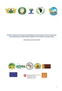 Déclaration : Position commune des Acteurs Non Étatiques à la Concertation de haut niveau pour une transhumance transfrontalière apaisée entre le Sahel et les pays côtiers