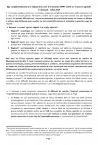 Note - Conseil agricole : compléments sur la note d'orientation IRAM-CIRAD