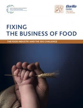 Rapport - Fixing the business of food : The food industry and the SDG challenge