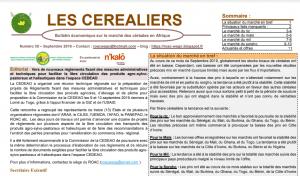 """Bulletin """"Les céréaliers"""" - Septembre 2019"""