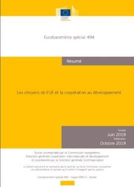Baromètre : Les citoyens de l'UE et la coopération au développement