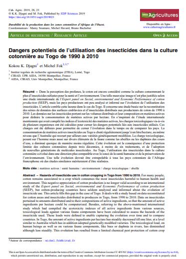 Article - Le boom de l'anacarde en Côte d'Ivoire: transition écologique et sociale des systèmes à base de coton et de cacao