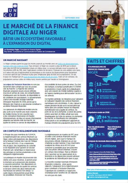 Note : Le marché de la finance digitale au Niger