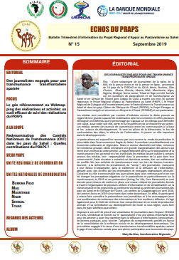 Bulletin : Echos du PRAPS n°15 - septembre 2019