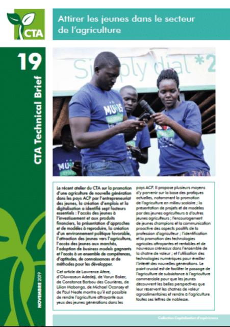 Note - Attirer les jeunes dans le secteur de l'agriculture