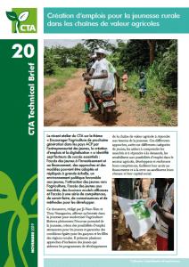 Note - Création d'emplois pour la jeunesse rurale dans les chaînes de valeur agricoles