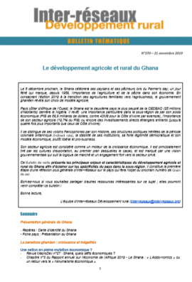 Bulletin de veille n°370 - Développement agricole et rural du Ghana