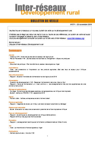 Bulletin de veille n°371