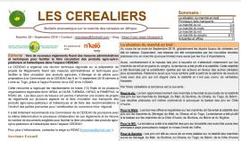 """Bulletin """"Les céréaliers"""" - Octobre 2019"""
