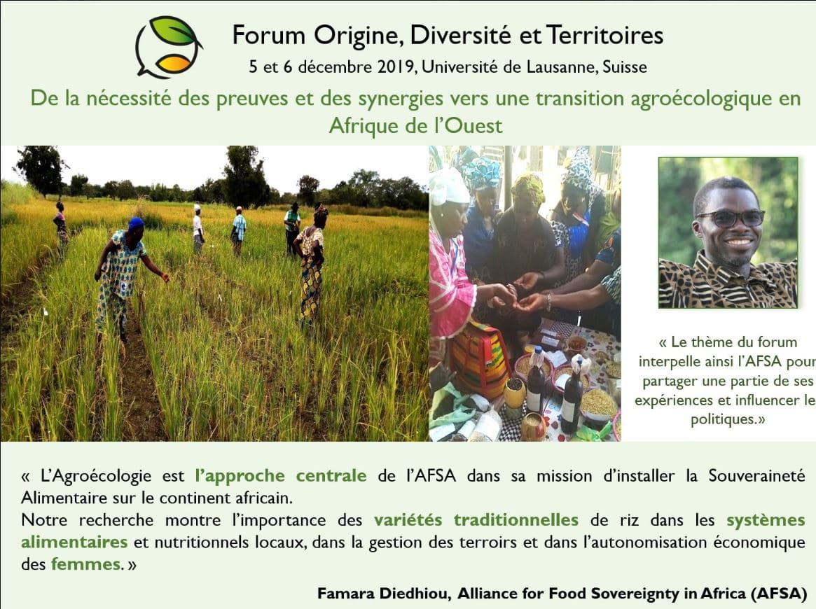 Forum : Agroécologie - transitions multiples des territoires