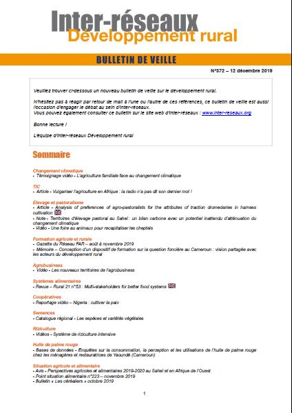 Bulletin de veille n°372