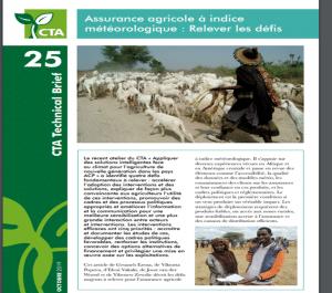 Note - Assurance agricole à indice météorologique : relever les défis