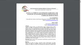 Article - ACCES A LA TERRE ET AUX INTRANTS AGRICOLES : UNE ETUDE DE CAS AUTOUR DES PETITS EXPLOITANTS DE L'OFFICE DU NIGER AU MALI