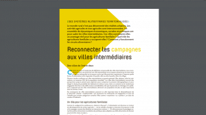 Article - RECONNECTER LES CAMPAGNES AUX VILLES