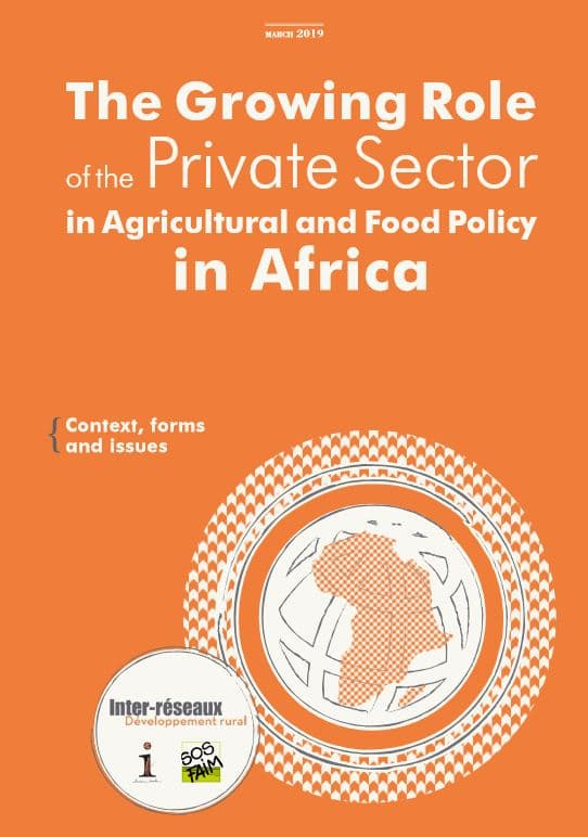 Note : The Growing Role of the Private Sector in Agricultural and Food Policy in Africa