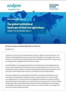 Discussion paper : The global institutional landscape of food and agriculture - How to achieve SDG 2