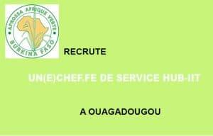 APROSSA Afrique Verte Burkina recrute un(e) chef.fe de service à Ouaga