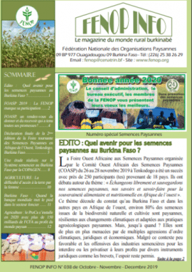 Bulletin Fenop Infos n°38