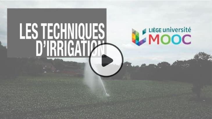 MOOC : Les techniques d'irrigation