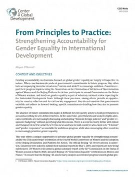Note : Strengthening Accountability for Gender Equality in International Development