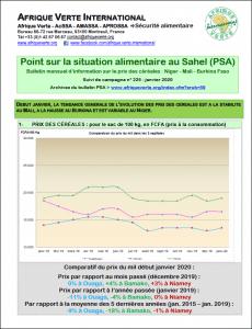 Point sur la situation alimentaire au Sahel (PSA) - Janvier 2020