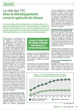 Le rôle des TIC dans le développement rural et agricole du Ghana