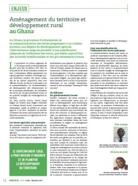Aménagement du territoire et développement rural au Ghana
