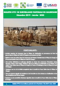 Bulletin : Surveillance Pastorale en Mauritanie Décembre 2019 – Janvier 2020