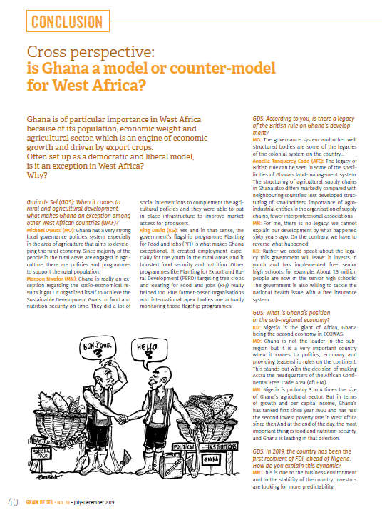 Cross perspective: is Ghana a model or counter-model for West Africa?