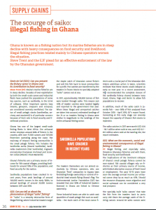 The scourge of saiko: illegal fishing in Ghana