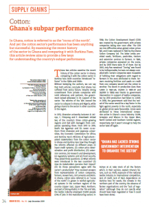 Cotton: Ghana's subpar performance
